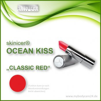 skinicer® OCEAN KISS Lippenstift Classic Red