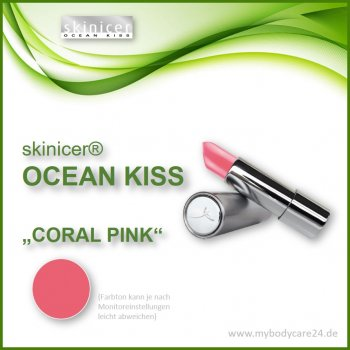 skinicer® OCEAN KISS Lippenstift Coral Pink