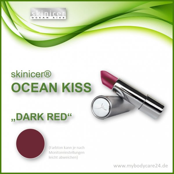 skinicer® OCEAN KISS Lippenstift Dark Red