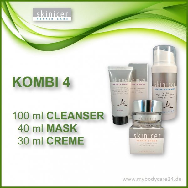 Skinicer® SET 4: REPAIR Cleanser + REPAIR Mask - REPAIR CREME