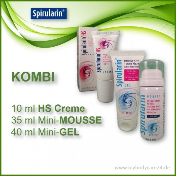 Spirularin VS Crememit mini-Gel und Mini-Mousse